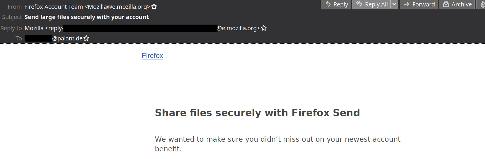 Dear Mozilla, please stop spamming!