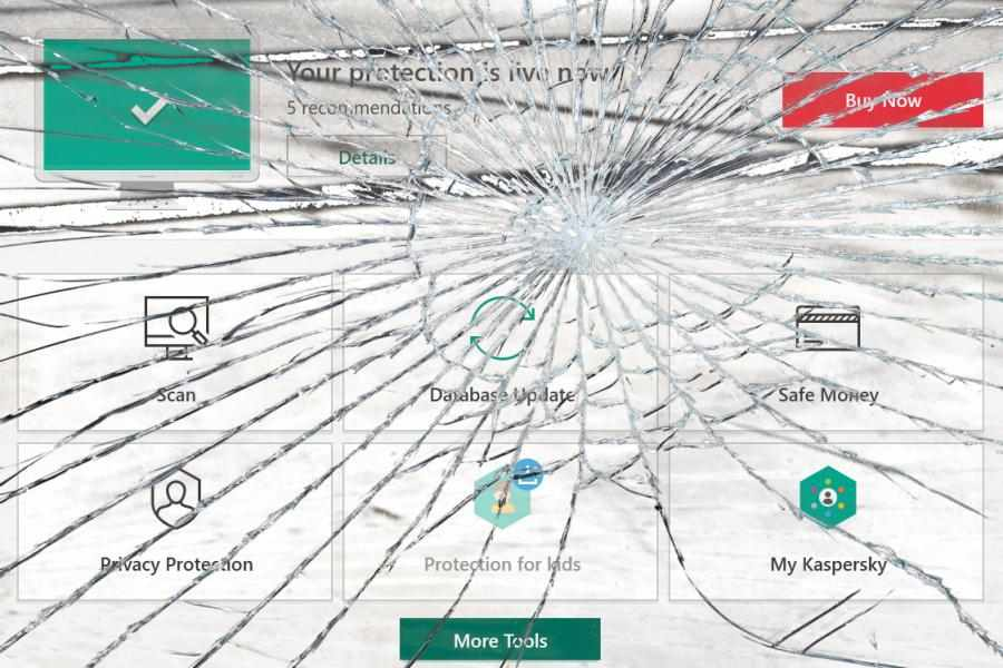 Kaspersky functionality shattered