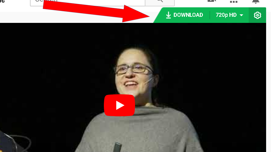 Download bar displayed by Video Downloader on a YouTube video