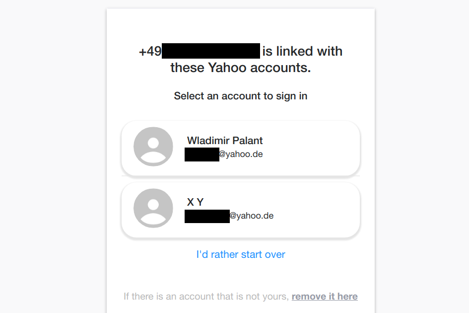 "Yahoo! offering me access to my account and as well as some ""X Y"" account"
