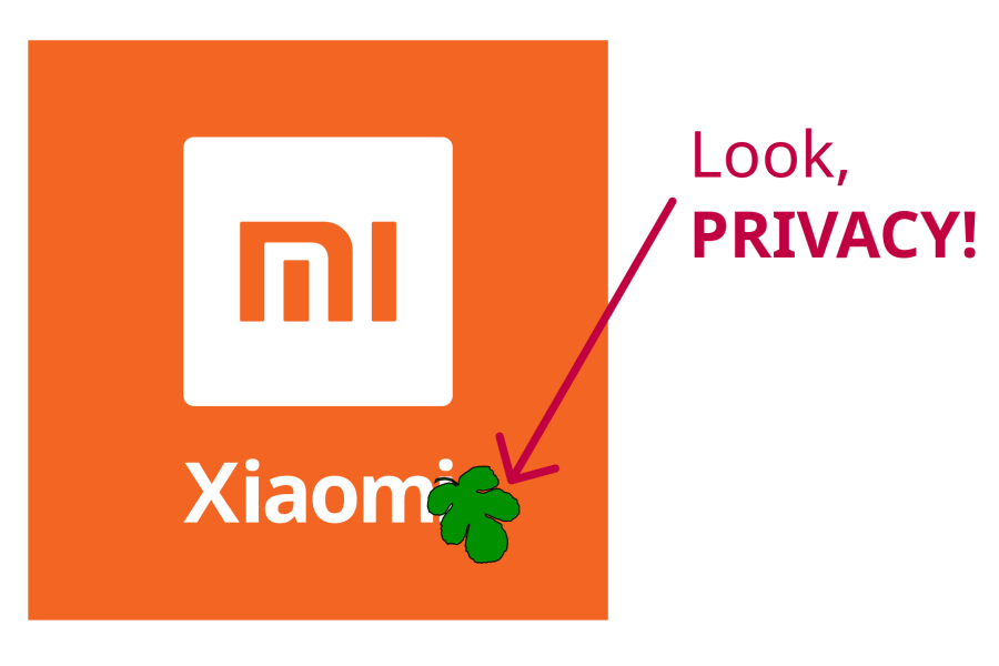 Xiaomi demonstrating a privacy fig leaf